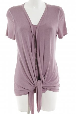 Comma Cowl-Neck Shirt pink casual look