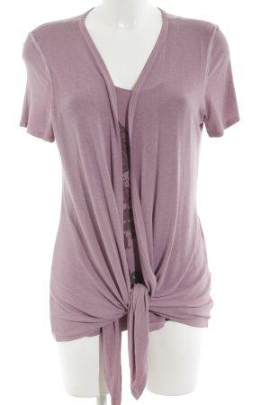 Comma Camisa con cuello caído rosa look casual