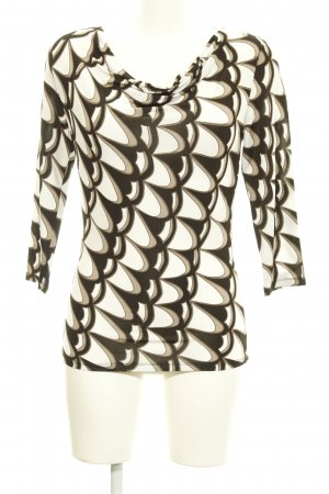 Comma Cowl-Neck Shirt abstract pattern business style