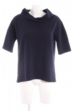 Comma Waterval shirt donkerblauw casual uitstraling