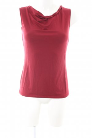 Comma Cowl-Neck Top red business style