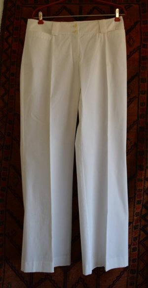 Comma Marlene Trousers white mixture fibre