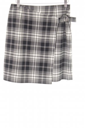 Comma Wraparound Skirt black-white check pattern casual look