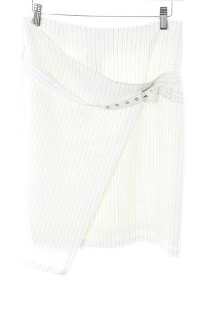 Comma Jupe portefeuille crème-noir rayure fine style d'affaires