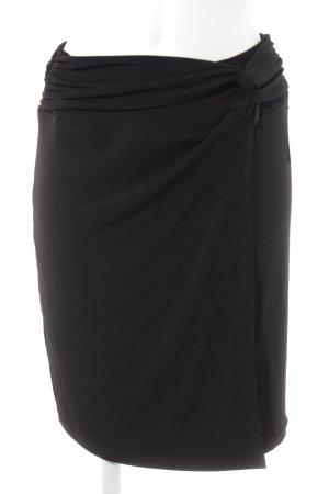 Comma Falda cruzada negro elegante