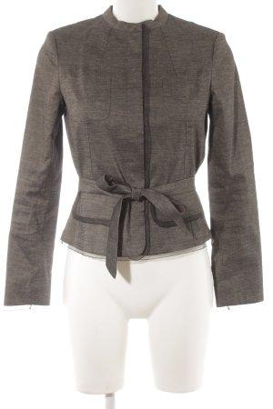 Comma Blazer in lana nero-crema puntinato stile professionale