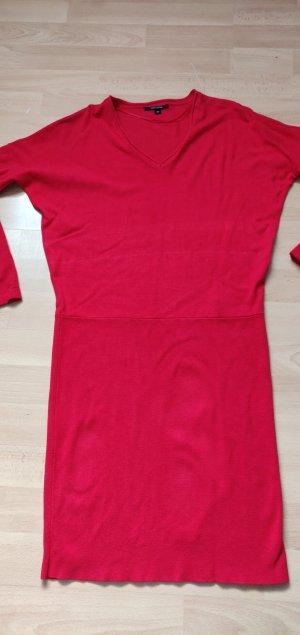 Comma Vestido de lana rojo ladrillo