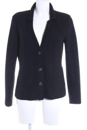 Comma Chaqueta de lana negro look casual