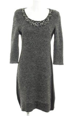 Comma Robe en laine gris Motif de tissage élégant