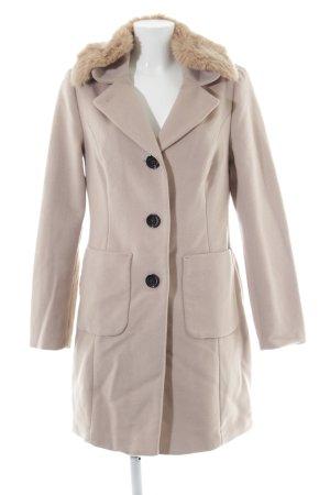 Comma Wollmantel beige-camel Street-Fashion-Look