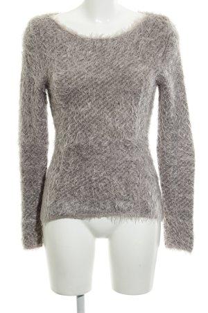 Comma Maglione di lana malva-grigio motivo a righe stile casual