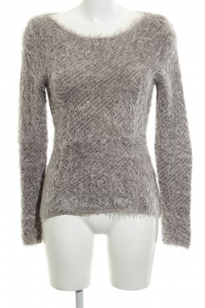 Comma Wollpullover blasslila-grau Streifenmuster Casual-Look