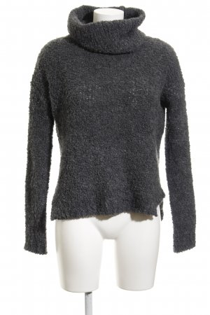 Comma Wollpullover dunkelgrau Casual-Look