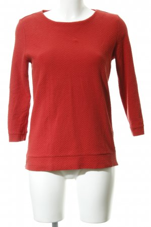 Comma Wollpullover rot Karomuster Casual-Look