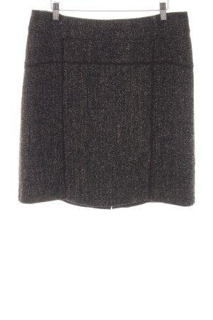 Comma Wollen rok bruin-zwart klassieke stijl