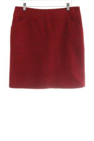 Comma Wollrock dunkelrot-silberfarben Elegant