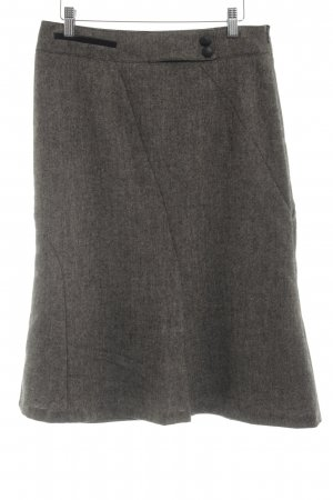 Comma Wool Skirt grey brown-black business style