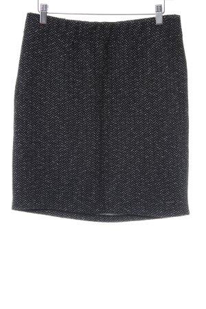 Comma Gonna di lana nero-grigio motivo astratto stile casual