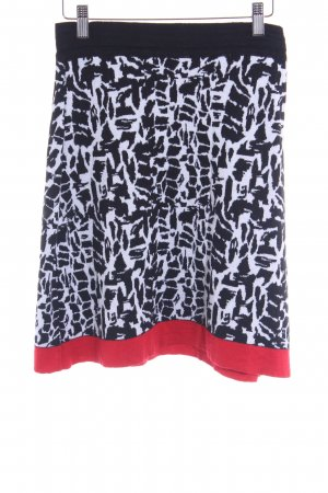 Comma Wool Skirt black-white embellished pattern casual look
