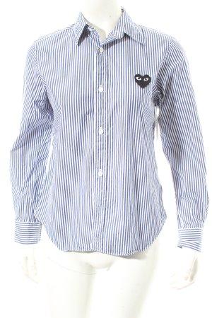 Comme des garçons Langarm-Bluse blau-weiß Streifenmuster Casual-Look