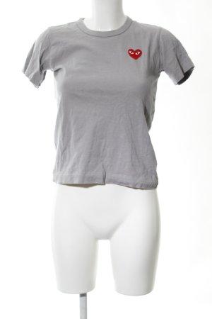 Comme des Garçons T-Shirt hellgrau-rot Casual-Look