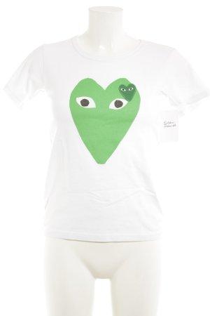 Comme des Garçons T-Shirt Motivdruck Casual-Look