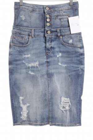 Community of Denim Jeansrock mehrfarbig Destroy-Optik