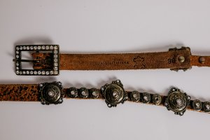 Chain Belt gold-colored-brown metal