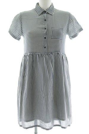 Compañia Fantastica Hemdblusenkleid schwarz-weiß Streifenmuster Casual-Look