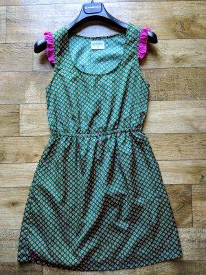 Compañia Fantastica Midi Dress khaki-lilac textile fiber