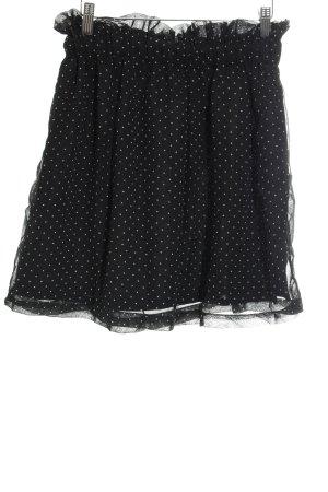 Compañia Fantastica Cirkelrok zwart gestippeld patroon romantische stijl