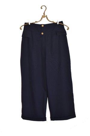 Pantalone culotte blu scuro-blu Lana
