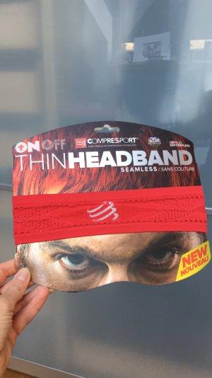 Compressport Headband seamless rot neu