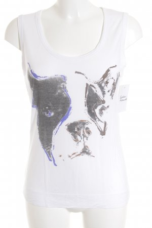 Comptoir Des Contonniers Print-Shirt weiß-braun Motivdruck schlichter Stil