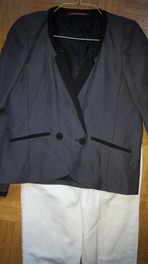 Comptoir des Cotonniers Veste de smoking noir-gris coton