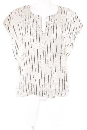 Comptoir des Cotonniers ärmellose Bluse creme-schwarz abstraktes Muster