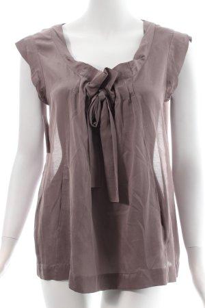 Comptoir des Cotonniers ärmellose Bluse graulila Eleganz-Look
