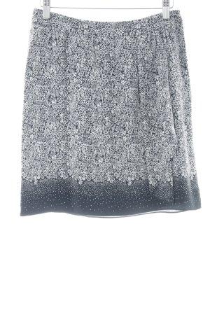 Comptoir des Cotonniers Jupe asymétrique noir-blanc cassé motif floral