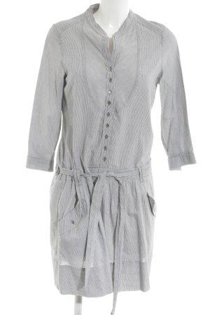 Comptoir des Cotonniers Blusenkleid hellgrau-weiß Streifenmuster Casual-Look