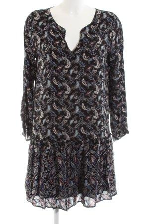 Comptoir des Cotonniers Blusenkleid schwarz abstraktes Muster Business-Look