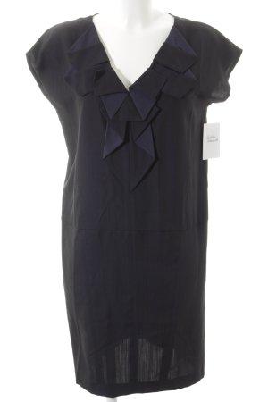 Comptoir des Cotonniers Blusenkleid schwarz-dunkelblau Business-Look