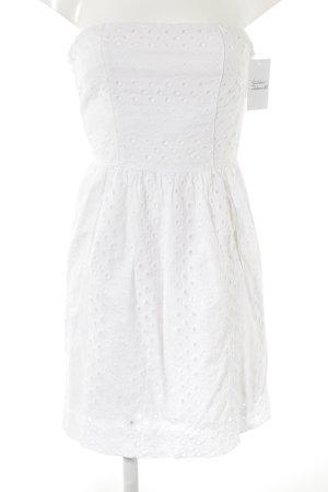 Comptoir des Cotonniers Vestido bustier blanco puro modelo de punto flojo