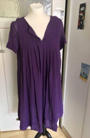 Comptoir des Cotonniers dunkelviolettes Kleid mit Unterkleid