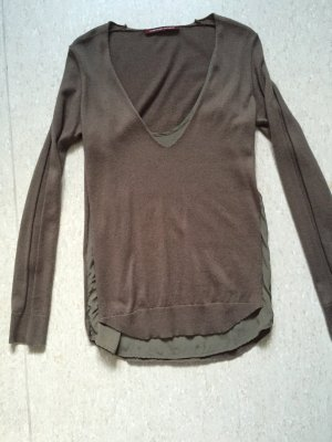 Comptoir des cotonniers - Edler Pullover mit Seiden-Unterhemd in braun