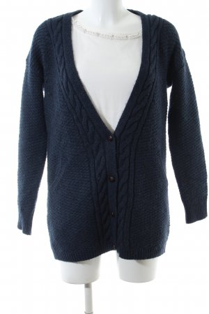 Comptoir des Cotonniers Coarse Knitted Jacket blue-white cable stitch