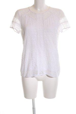 Comptoir des Cotonniers Gehaakt shirt wit zakelijke stijl