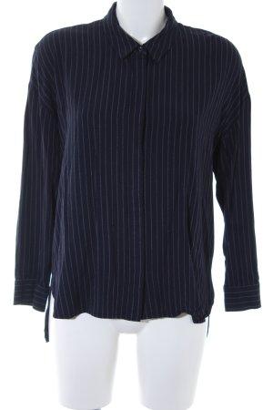 Comptoir des Cotonniers Hemd-Bluse dunkelblau-weiß Nadelstreifen Business-Look