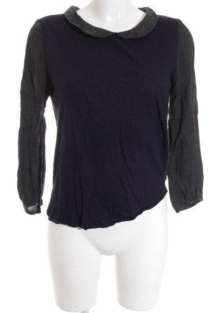 Comptoir des Cotonniers Hemd-Bluse schwarz-dunkelblau sportlicher Stil