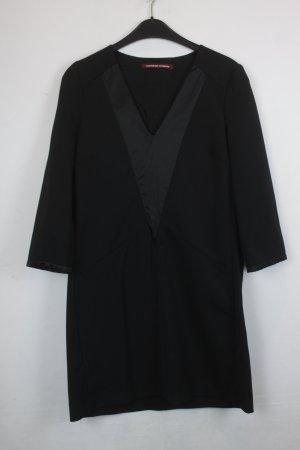 Comptoir des Cotonniers Kleid Gr. 42 schwarz V-Ausschnitt (18/6/113)