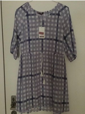Comptoir des Cotonniers vestido de globo púrpura-blanco
